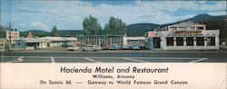 Hacienda Motel and Restaurant Large Format Postcard