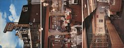 Palace Flaming Hearth Restaurant Large Format Postcard
