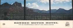 Rondee Motor Hotel for an Incomparable View of Oak Creek Canyon Large Format Postcard