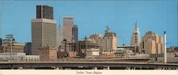 Dallas Texas Skyline Large Format Postcard