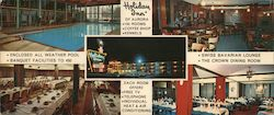 Holiday Inn of Aurora, Illinois Large Format Postcard