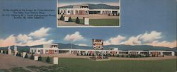 Sunset Motel, Santa Fe, New Mexico Large Format Postcard
