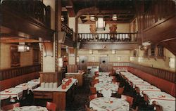 The Pickwick Tavern dining room Postcard