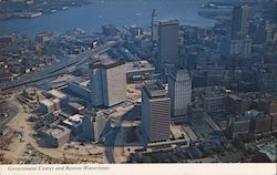 Government Center and Boston Waterfront From the Air Postcard