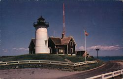Lighthouse at Woods Hole Postcard