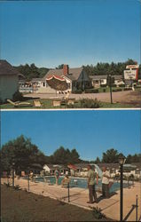 North Country Star Motel, pool Postcard