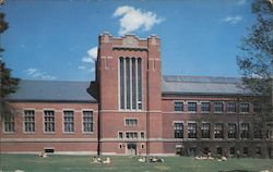 Library and Atwood Hall, Clarke University Postcard