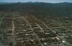 Aerial view of Prescott, mountains Postcard