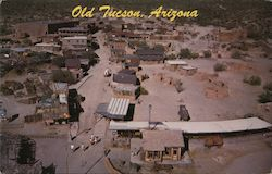 Aerial view of Old Tuscon constructed 1939 for filming Arizona era 1859, movie studio, theme park Postcard