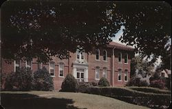 Carvin Hall, a faculty residence at Hollins College Postcard