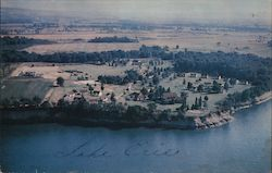 Air View, Dunkirk Conference Grounds Postcard