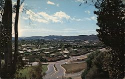 Valley as seen from Puddingstone State Park Area, freeway below Postcard