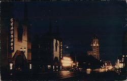 Hollywood Blvd. at night, Graumans Chinese Postcard