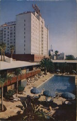 Hollywood Roosevelt Hotel and Promenade Postcard
