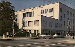 Mendocino County Court House Postcard