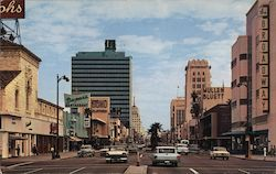 Miracle Mile, Wilshire Boulevard, Los Angeles Postcard