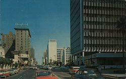 Los Angeles, California Wilshire Blvd. Postcard