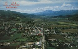 Bird's Eye View of St. Helena and Mt. St. Helena Postcard