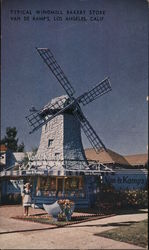 Typical Windmill Bakery Store - Van De Kamp's Postcard