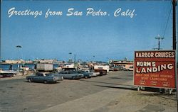 Greetings from San Pedro, Calif. Postcard