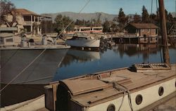 McHale's Ocean on back lot at Universal City Studios, boats, docks Postcard