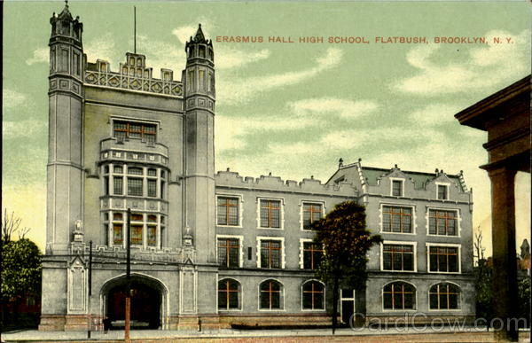 Erasmus Hall High School, Flatbush Postcard