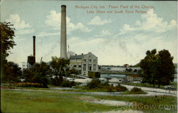 Power Plant Of The Chicago Michigan City Indiana