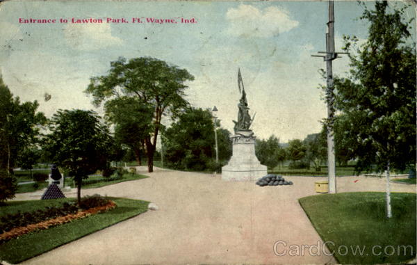 Entrance To Lawton Park Fort Wayne Indiana