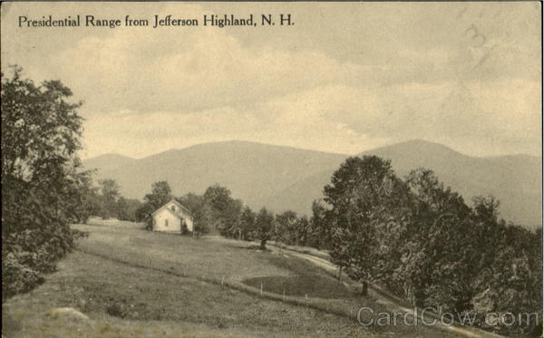Presidential Range From Jefferson Highland New Hampshire