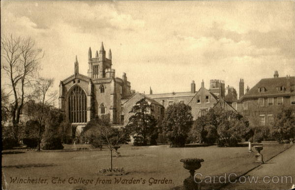The College From Warden's Garden Winchester UK Sussex