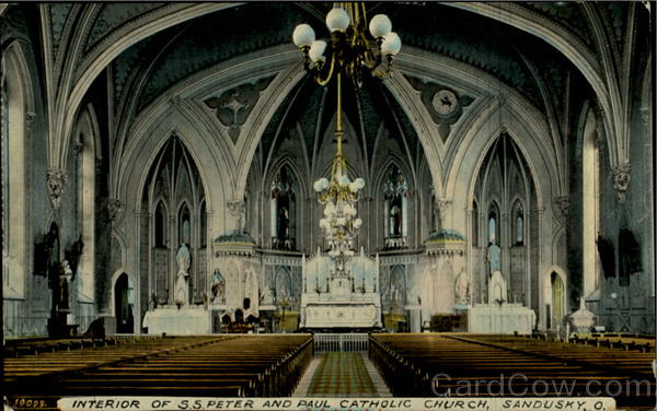 Interior Of S. S. Peter And Paul Catholic Church Sandusky Ohio