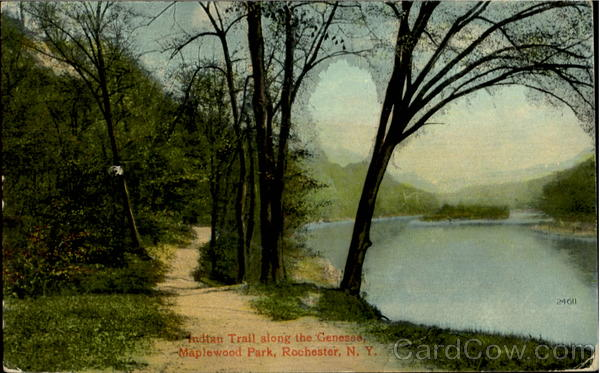 Indian Trail Along The Genesee, Maplewood Park Rochester New York