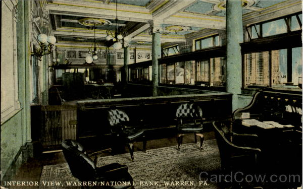 Interior View Warren National Bank Pennsylvania