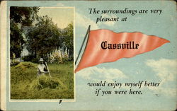 The Surroundings Are Very Pleasant At Cassville Postcard