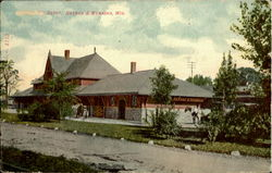 Train Depot Neehan & Menasha Postcard