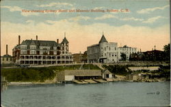 View Showing Sydney Hotel And Masonic Building Cape Breton