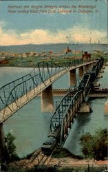 Railroad And Wagon Bridges Across The Mississippi River