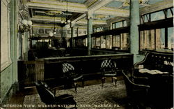 Interior View Warren National Bank