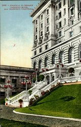 Stairway To Terrace Fairmont Hotel Postcard