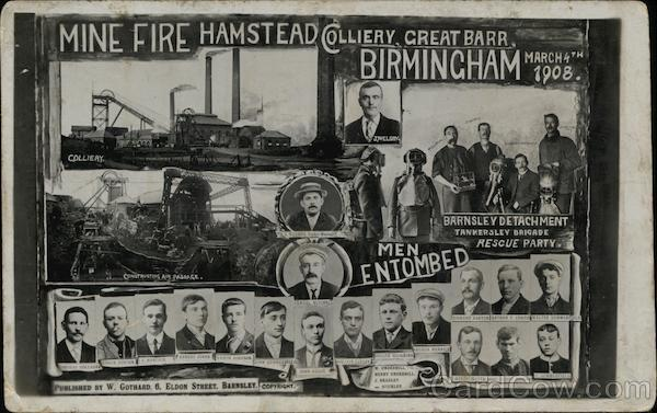 Mine Disaster Victims Rescue Party Birmingham England