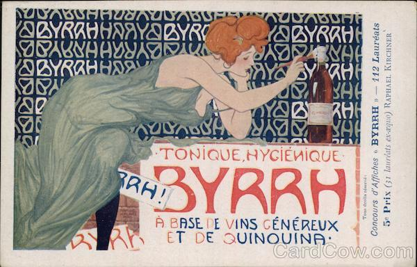Byrrh Tonic Aperitif & Lady Raphael Kirchner Advertising