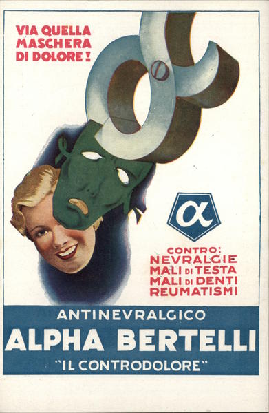 Face Mask Advert Medicine Italian Advertising