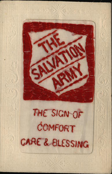 Embroidered Silk Salvation Army