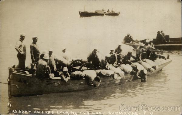 1915 Navy Salors Submarine Disaster USS F-4 Skate Honolulu Hawaii