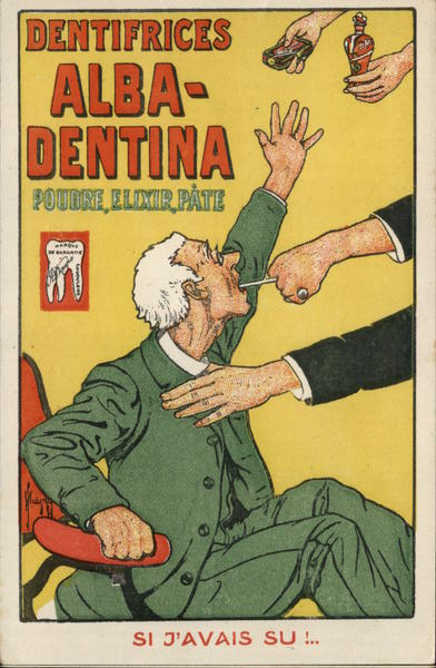Tooth Pulling & Advert Alba-Dentina Powder Advertising