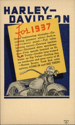 Advert Motorcycle Harley-Davidson Postcard