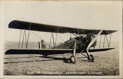Curtiss Fledgling Biplane Bridgeport Airport