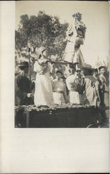 Performing Children at Great Chinese Festival, 1907 Postcard