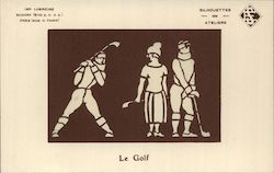 Golf Players French Glow in the Dark