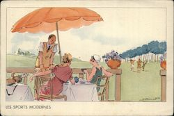 Art Deco Ladies Golf French